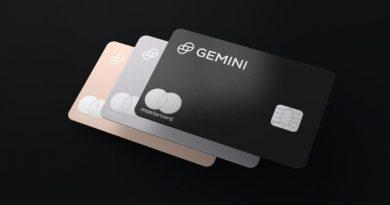 Cartão Gemini Mastercard oferece até 3% de volta em moedas digitais em tempo real