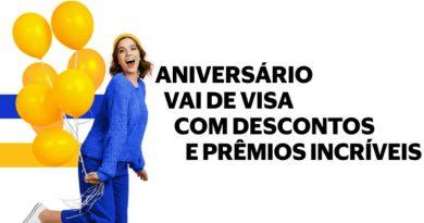 Promoção 'Aniversário Vai de Visa' tem descontos e prêmios de até R$ 1 mil